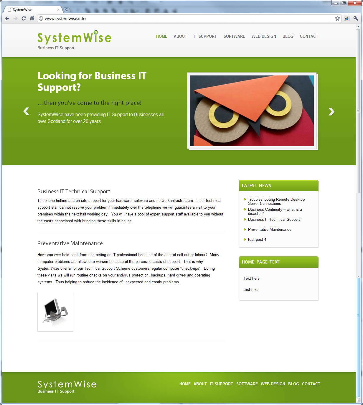 SystemWise Website